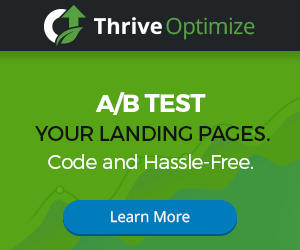 Thrive Optimize - A/B Test Your Landing Pages