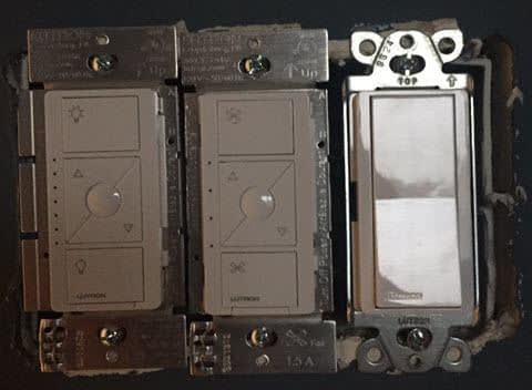 Replacing the Existing Toggle Switches - Electrical Box Smart Dimmer Switchers Screwed In View