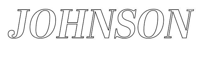 Adobe Illustrator Custom Name Design