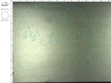 Deer layer of sign in Glowforge laser software