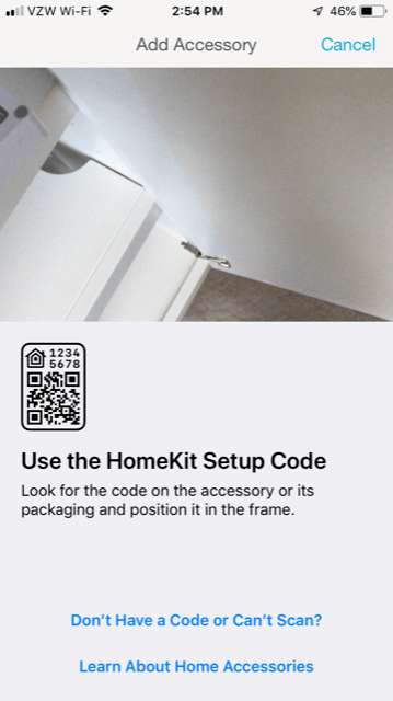 Lutron Caseta App Install on iPhone - Use the HomeKit Setup Code