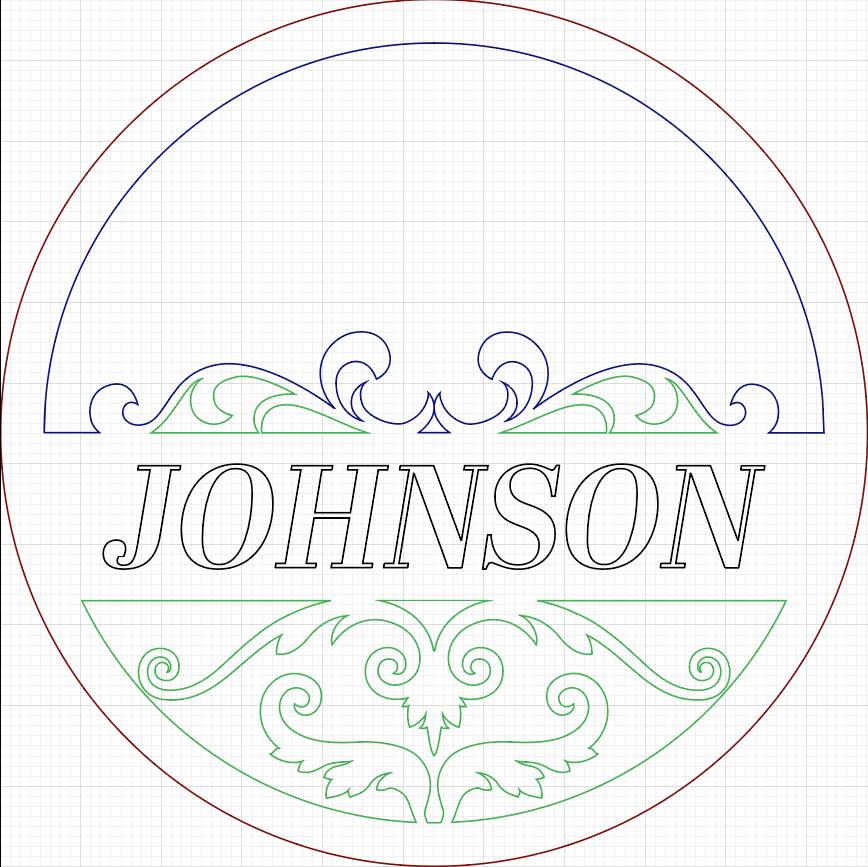 Illustrator Vector Design for Custom Door Sign