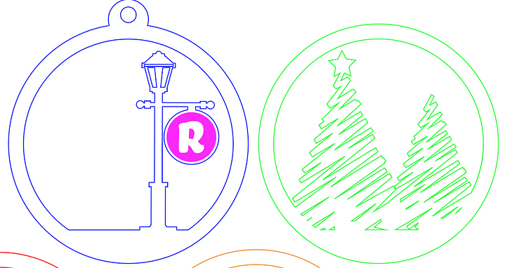 Adobe Illustrator Christmas Ornament Design for the Laser