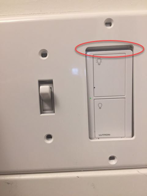 4-Gang electrical switch box with Leviton wall plate