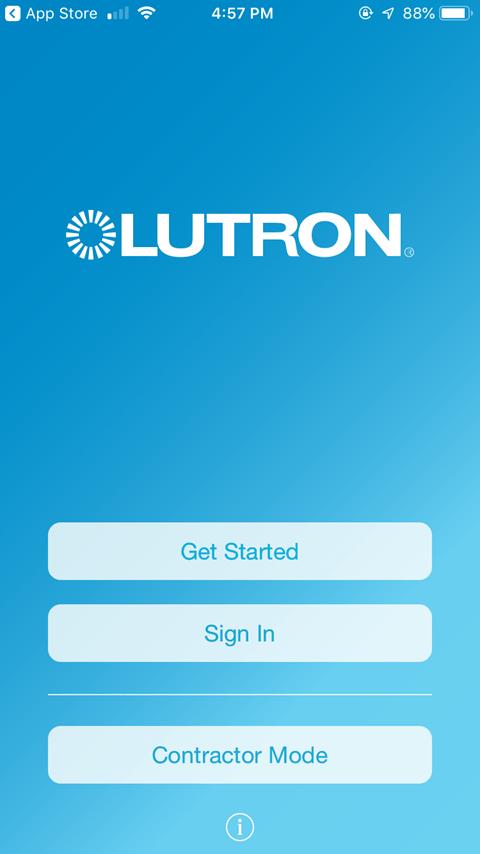 Sharing the Lutron Caseta App - Initial Startup
