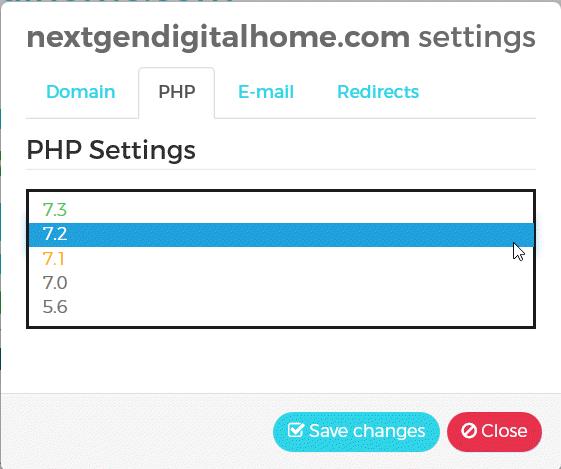 WPX Managed WordPress Hosting PHP Settings
